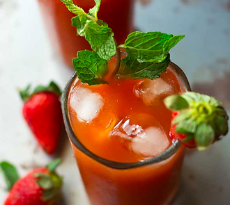 Organic Iced Strawberry Tea