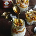 Organic tapioca pudding with honey caramelised pineapples