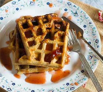 Organic Eggless Gingerbread Waffles