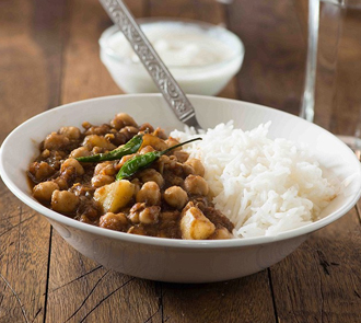 Organic Chana aloo with Rice