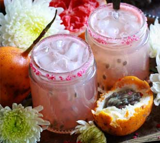 Organic Grapefruit and passion fruit cooler