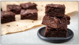 Organic Eggless Ragi Brownies