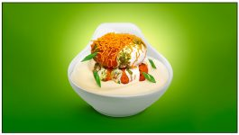 Organic Masoor Dal and Paneer Tikki Chat