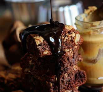 Organic Peanut Butter Chocolate Brownie