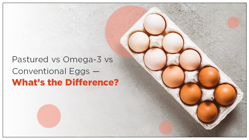 Pastured vs Omega-3 vs Conventional Eggs — What's the Difference