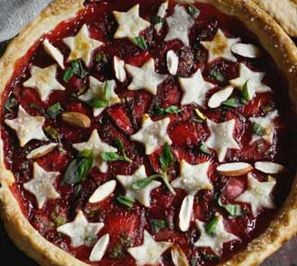 Organic Strawberry and Basil Pie