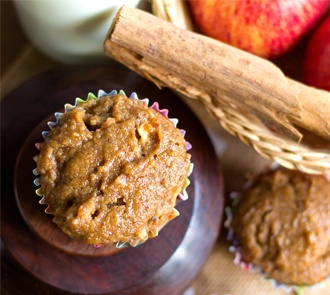 Organic Whole Wheat Bran Apple Muffins Recipe