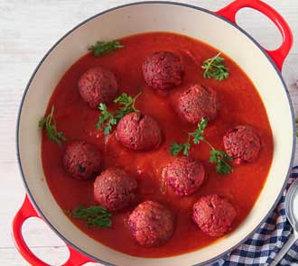 Organic Vegetable Kofta Balls in Tomato Sauce