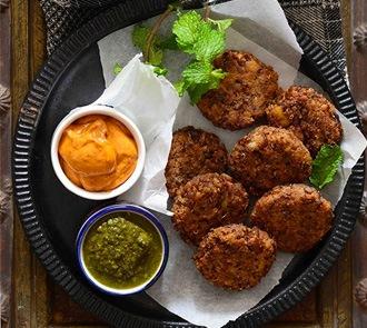 Organic Rajma Galouti Kebabs