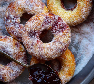 Organic Strawberry Jam Donut