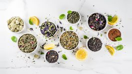 Different kinds of organic tea