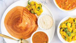 Delicious quinoa dosa to make!
