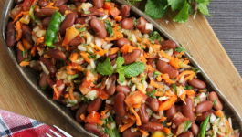 Get bowled over by this delectable Rajma Salad Recipe