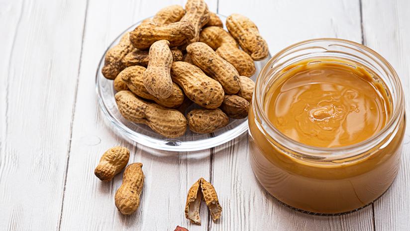 fiber in peanuts